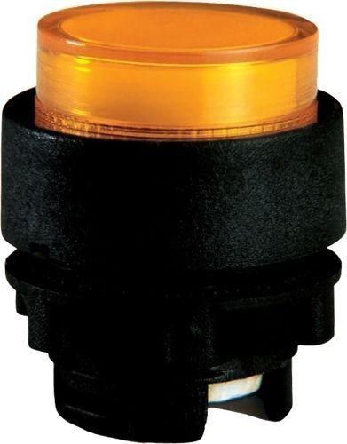 Bouton poussoir lumineux plastique dépassant amber