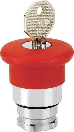 Arrêt d´urgence Métal 40mm à clé 455 rouge