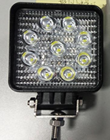 Phare de travail 3 pouces 27W LED cree 1700 m 12-30V carré fixation visse Spot beam