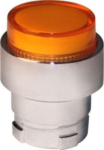 Tête bouton poussoir Métal dépassant lumineux orange/ambre