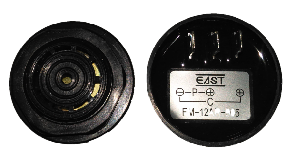 Piezo Buzzer continu & bip rapide [- + +] 12VDC (6-28VDC) 80dB