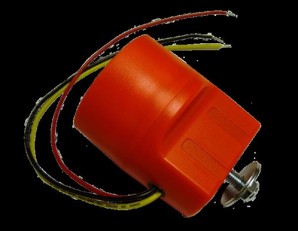 Alarme de recul 71(Dia)x85mm 12-24V Orange -30°/ +70° 97dB (+/- 4dB/1m) 300mA (+/-50mA) 2,4KHz-2,8KHz IP65