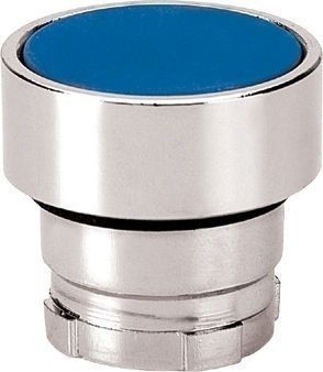 Bouton poussoir Métal affleurant bleu