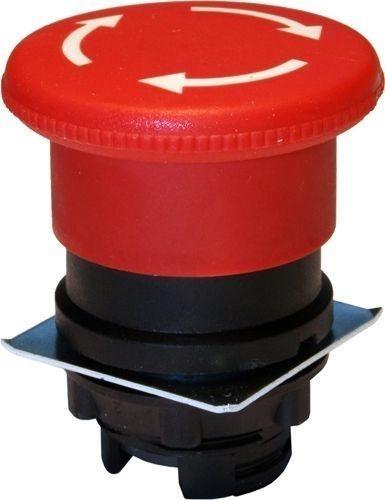 Arrêt d´urgence plastique 40mm 1/4 tour Rouge