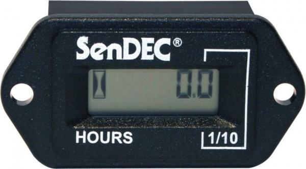 Horamètre rectangulaire 5-80V AC/DC