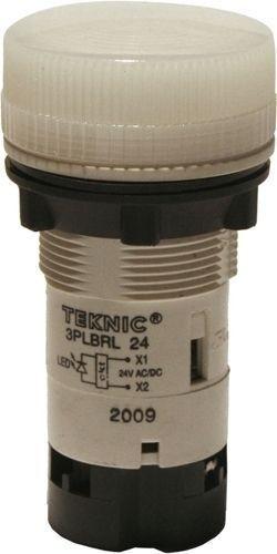Voyant blanc LED 24V Ø22mm MB Plastique