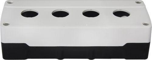 Boîtier 4 trous ABS Blanc/Noir