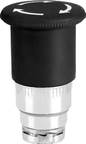 Arrêt d´urgence Métal 40mm 1/4 tour brusque noir