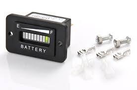 Indicateur de batterie, IP65, affichage à barres LED, fixation à vis, 13mA, 12 / 24VDC