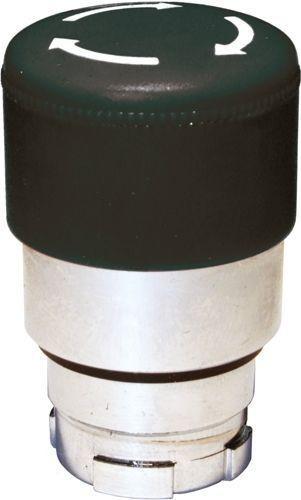 Arrêt d´urgence Métal 30mm momentané noir