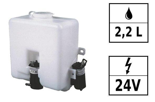 Réservoir lave-glace 24V 2,2L 2 pompes