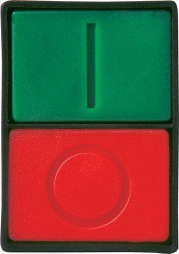 Bouton poussoir double plastique vert rouge