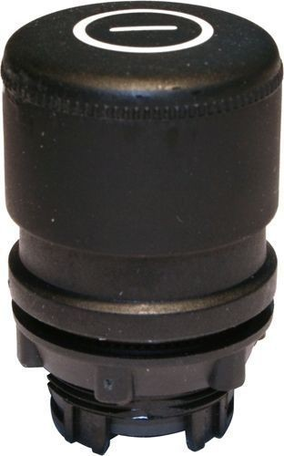 Arrêt d´urgence Plastique 30mm momentané noir