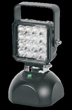 Phare de travail rechargeable avec embase magnétique et bouton 4 Pouces 16W LED epistar 1000 Lm 12-36V carré Flood beam