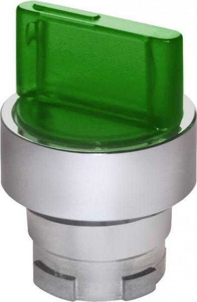 Sélecteur de position lumineux métal vert (G)C(D)