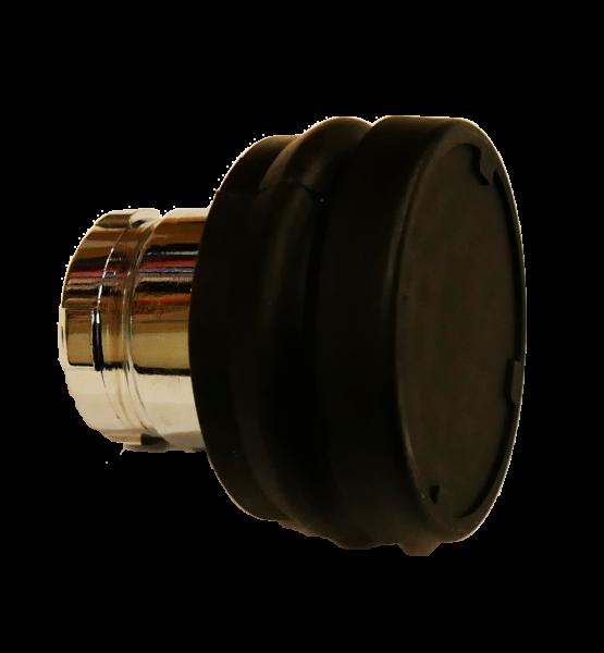 Bouton poussoir noir sans sticker compatible embase IP68