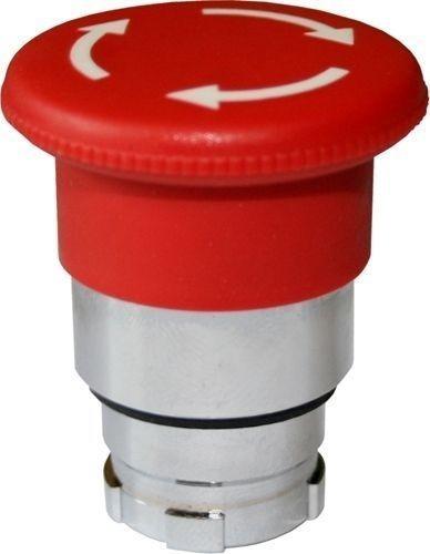 Arrêt d´urgence Métal 40mm 1/4 tour rouge