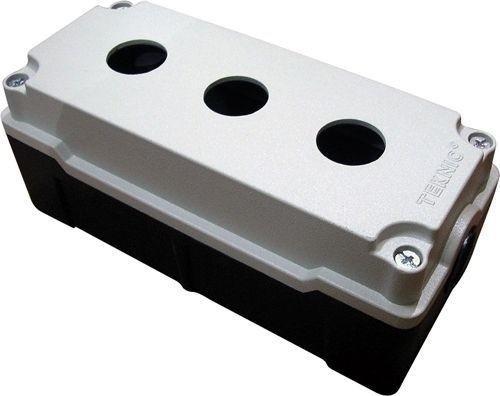 Boîtier métallique aluminium moulé 3 trous 52 mm de profondeur
