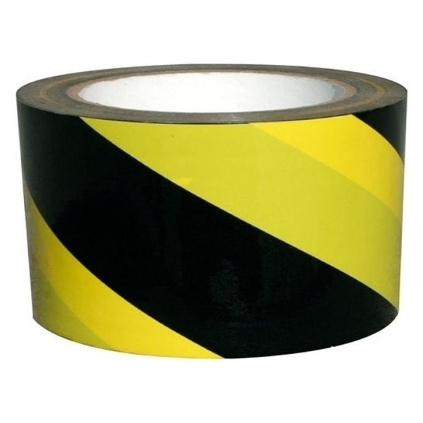 Scotch Jaune-Noir, rouleau de 33m, largeur 50 mm
