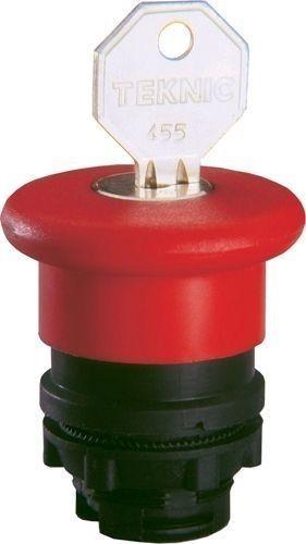 Arrêt d´urgence Plastique 40mm rouge à clé 455