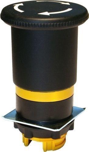 Arrêt d´urgence Plastique 40mm 1/4 tour brusque noir