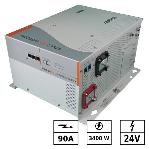 Convertisseur / chargeur 24Vdc 230Vac Sinus 3400W 90A FREEDOM SW IP20
