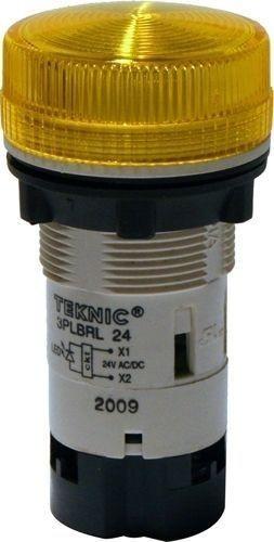 Voyant jaune LED 12-24V Ø22mm MB Plastique