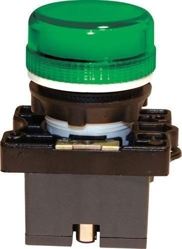 Voyant plastique Vert + support + LED 110V