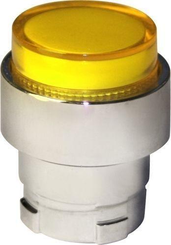 Tête bouton poussoir Métal dépassant lumineux jaune