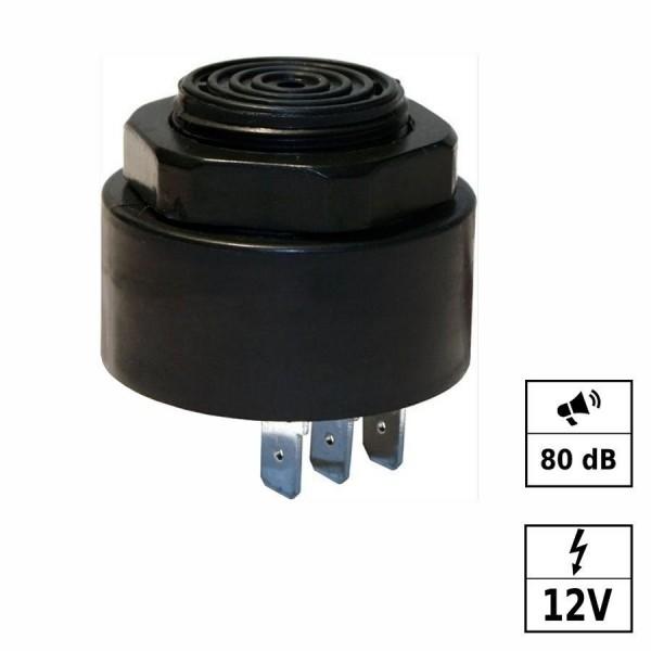 Piezo Buzzer continu et bip rapide [- - +] 12VDC (6-28VDC) 80dB