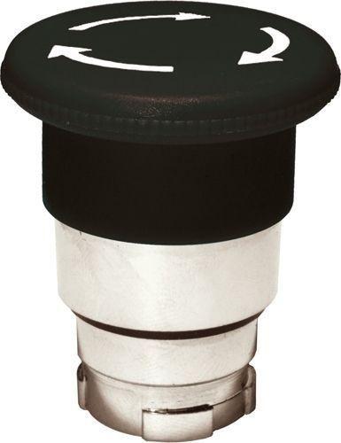 Arrêt d´urgence Métal 40mm 1/4 tour noir