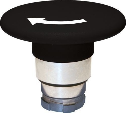 Arrêt d´urgence Métal 60mm 1/4 tour noir