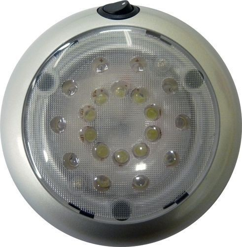 Plafonnier LED rond grand modèle + interrupteur 12/24V