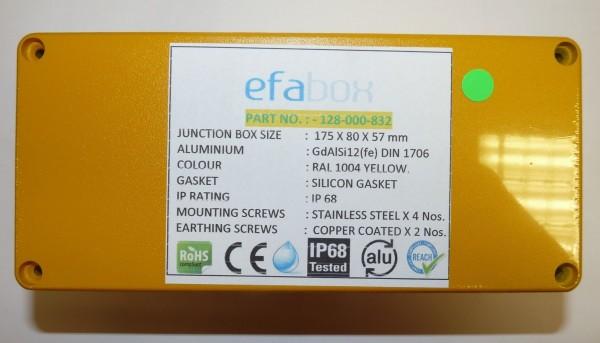 Efabox RAL 1004 jaune 175x80x57