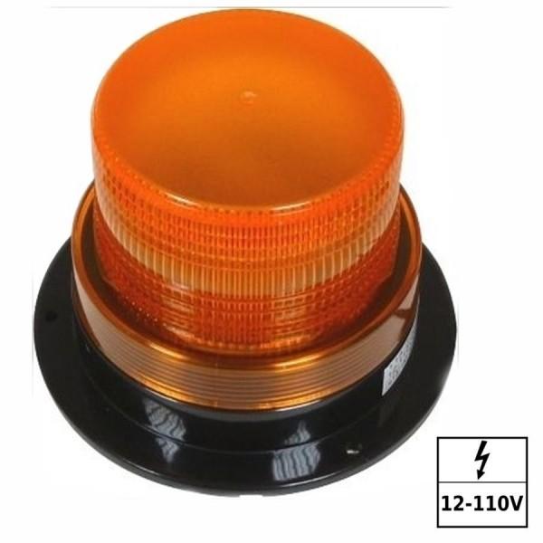 Feu à éclats 12-110VDC IP65 Ambre CE, e13, SAE J1318 Class III 3 points (Lg = 300mm)