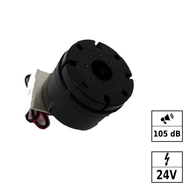 Alarme sirène 2 tons 105dB 24VDC (5-15VDC)