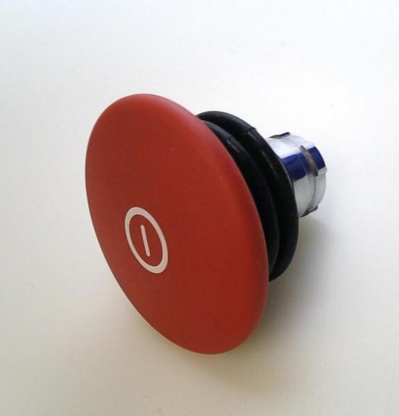 Arrêt d´urgence Métal 60mm poussé-tiré soufflet rouge compatible contacts IP68