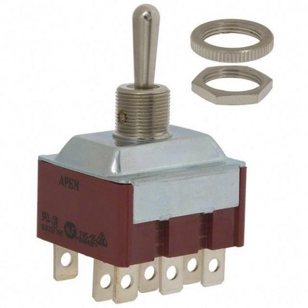 Interrupteur à levier 3P (ON)-OFF-(ON)