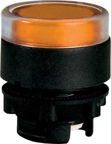Bouton poussoir lumineux plastique affleurant amber