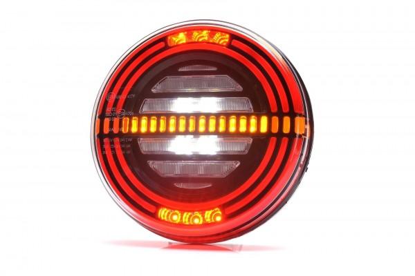 Feu arrière multi fonction G/D LED 12-24V (stop - position - clignotant -marche arrière - feu de brouillard -) 200 cm de câble