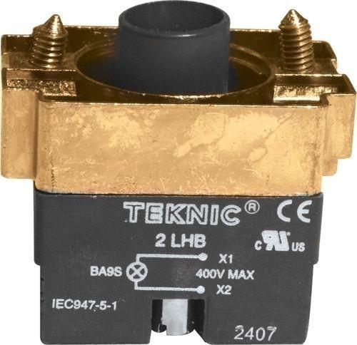 Support lampe Métal pour contact avec Res. 220V