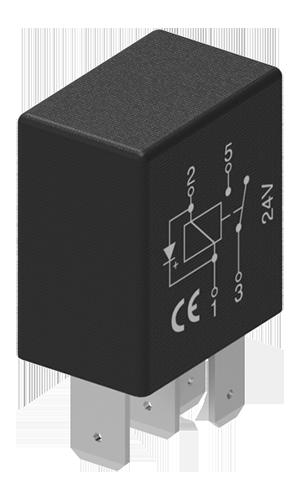 Micro relais CO 24V 15/10A 5P avec résistance