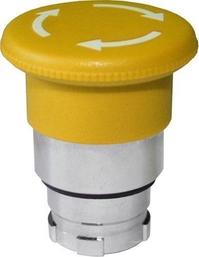 Arrêt d´urgence Métal 40mm 1/4 tour jaune