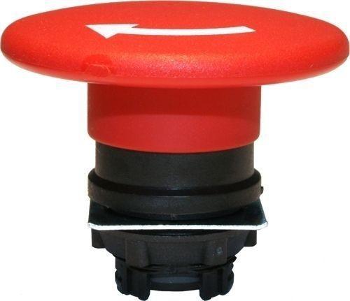 Arrêt d´urgence Plastique 60mm 1/4 tour rouge