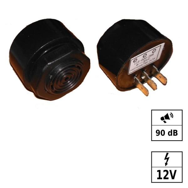 Piezo Buzzer continu & bip rapide [- - +] 12VDC (6-30VDC) 90dB - M27