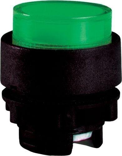 Bouton poussoir lumineux plastique dépassant vert